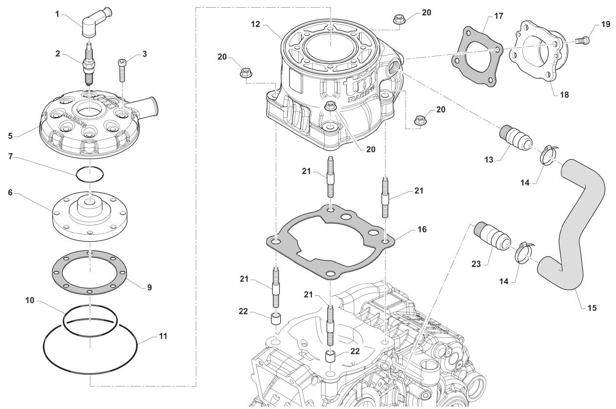 Zylinder KZ-R1 Titan Red