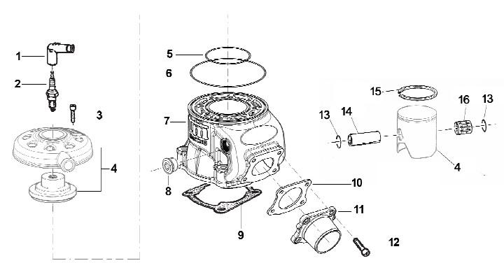 TM KZ10B Zylinder