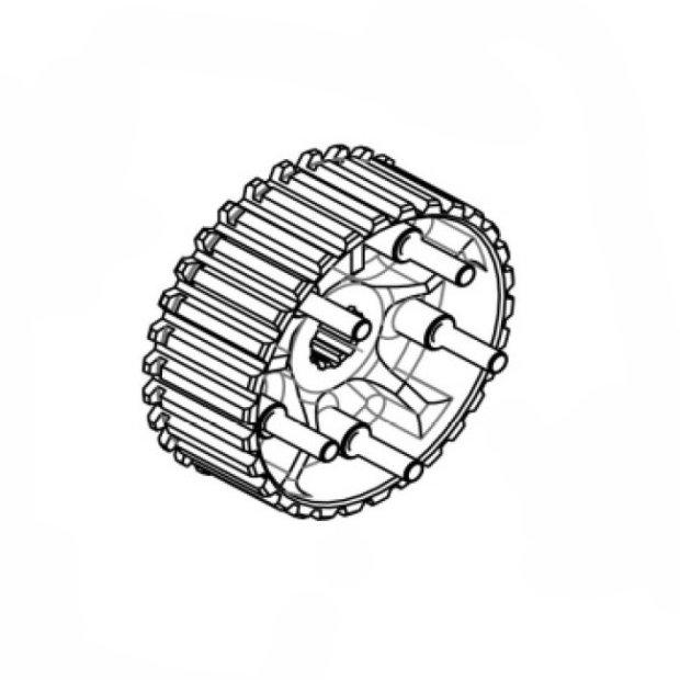 Clutch Hub with screws
