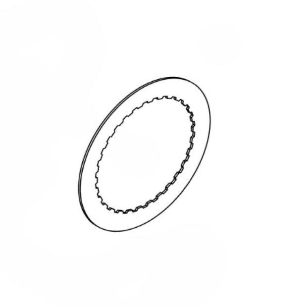 Kupplungscheibe 4mm alu