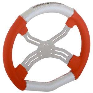 Steering Wheel Tony Kart Neon Red/White